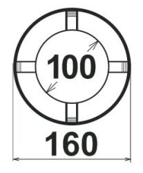 Koaxiál, průměr 100mm/160mm