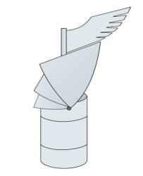 Otočná hlavice - nerez 0,8 mm