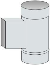 Nahlížecí díl bez dvířek a dna Ø150 mm - nerez síla 1 mm