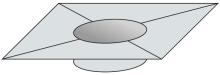 Krycí plech Ø150 mm - nerez síla 0,8 mm