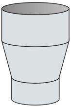 Redukce konická Ø125 mm kouřovod - nerez síla 0,6 mm