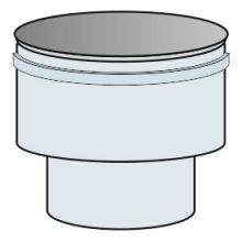 Redukce rovná přetlak Ø100/80 mm kouřovod - nerez síla 0,6 mm