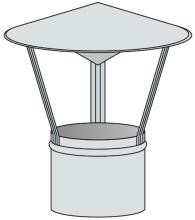 Stříška na pevná paliva Ø150 mm