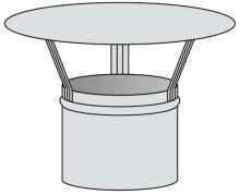 Meidingerova hlavice Ø80 mm - nerez síla 0,6 mm