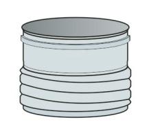 Přechod z roury/do ohebné vložky Ø100 mm - nerez síla 0,6 mm