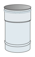 Roura kouřovodu Ø60 mm přetlak délka 0,33 m - nerez síla 0,6 mm