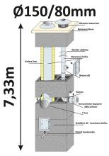 BLK40x65 průměr 150/80 mm - 10, výška 7.33 m