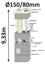 BLK40x65 průměr 150/80 mm - 10, výška 9.33 m
