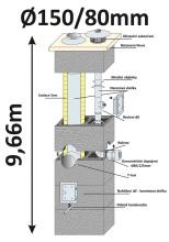 BLK40x65 průměr 150/80 mm - 10, výška 9.66 m