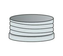 Matice na ohebnou vložku Ø60 mm - nerez síla 0,6 mm
