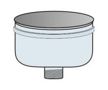 Odkap dolů přetlak Ø120 mm - nerez síla 0,6 mm