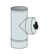 Revizní díl s víčkem Ø100 mm přetlak - nerez síla 0,6 mm