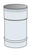 Roura kouřovodu Ø100 mm přetlak délka 0,33 m - nerez síla 0,6 mm