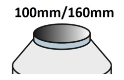 Průměr 100mm/160mm