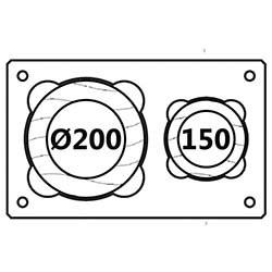 Průměr 200mm/150mm