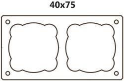 Dvouprůduchový BLK 40x75 (tvárnice 40x75x33cm)