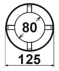 Koaxiál, průměr 80mm/125mm