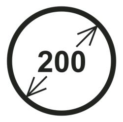 Průměr 200 mm