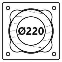 Průměr 220 mm