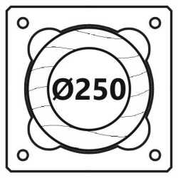 Průměr 250 mm