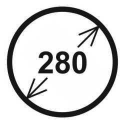 Průměr 280 mm