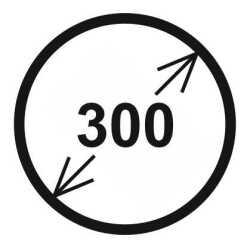 Průměr 300 mm