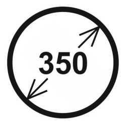 Průměr 350 mm