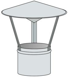 Stříška na pevná paliva - nerez 0,8 mm