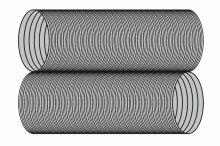 Ohebná vložka Flex Ø140 mm délka 5-12 m - nerez 2x0,12 mm