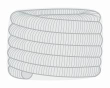 Ohebná vložka Flex  Ø150 mm balík 30m - nerez 2x0,12 mm