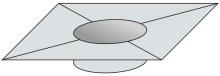 Krycí plech Ø300 mm - nerez síla 0,8 mm