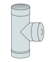 Nahlížecí díl s víkem Ø100 mm - nerez síla 0,6 mm