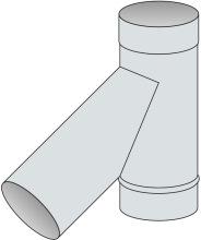 T-kus 45° Ø100 mm - nerez síla 0,6 mm