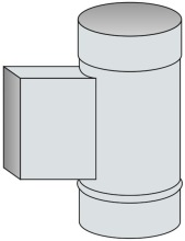 Nahlížecí díl bez dvířek a dna Ø170 mm - nerez síla 1 mm