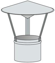 Stříška na pevná paliva Ø140 mm