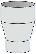 Redukce konická Ø170 mm kouřovod - nerez síla 1 mm