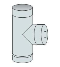 Nahlížecí díl s víkem Ø110 mm - nerez síla 0,6 mm