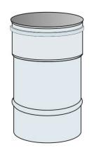 Roura Ø60 mm přetlak výška 0,33 m - nerez síla 0,6 mm
