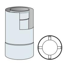 Roura kouřovodu koaxiální 80mm/125mm délka 0,33 m - nerez síla 0,6 mm