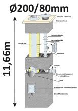 BLK40x65 průměr 200/80 mm - 10, výška 11.66 m