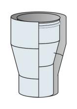 Redukce konická koaxiální Ø60/100 mm - nerez síla 0,6 mm