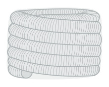Ohebná vložka Flex  Ø100 mm balík 30m - nerez 2x0,12 mm
