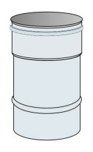 Roura Ø120 mm přetlak výška 0,33 m - nerez síla 0,6 mm