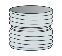 Spojka ohebné vložky Flex Ø120 mm  - nerez síla 0,6 mm